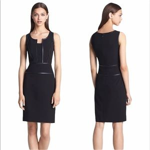 NEW Marc New York Andrew Marc Black Leather Dress